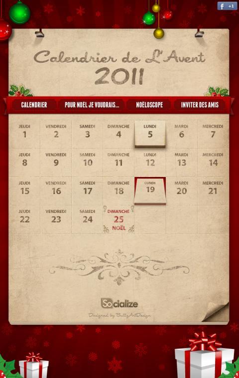 Calendrier de l'Avent 2011