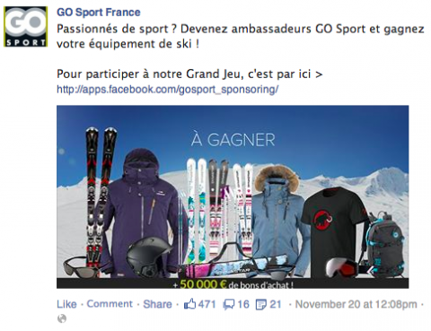 facebook ads go sport