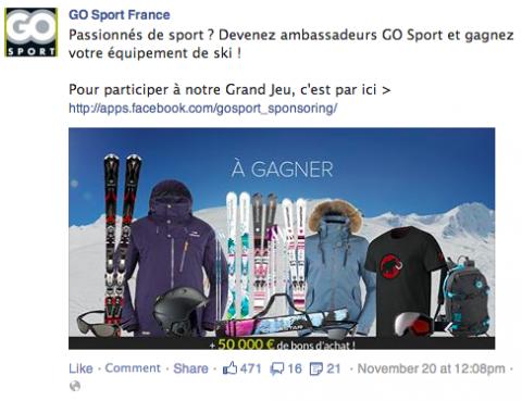 facebook ads go sport