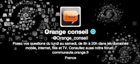 SAV-Orange sur Twitter