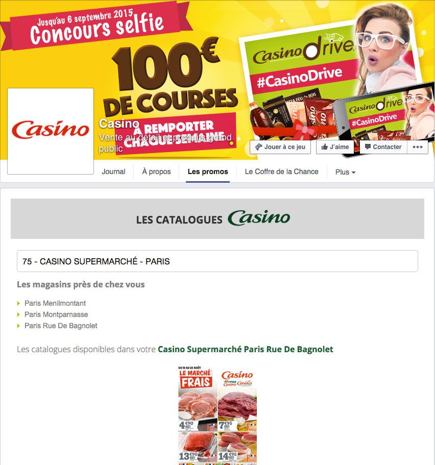 Jeu facebook de promotions localisées pour les supermarchés Casino