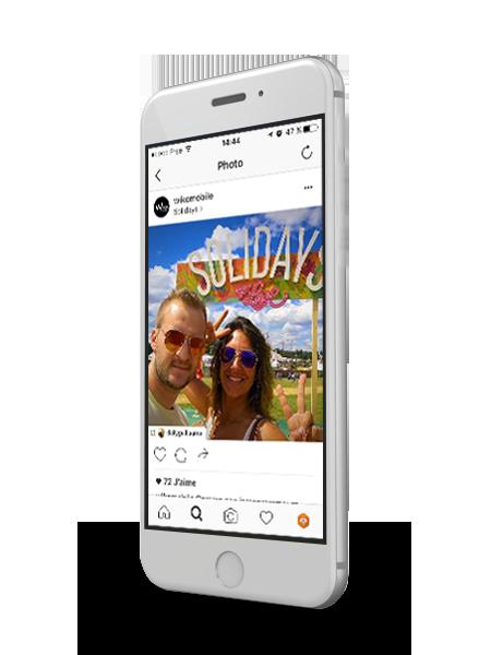 Application instagram Wiko