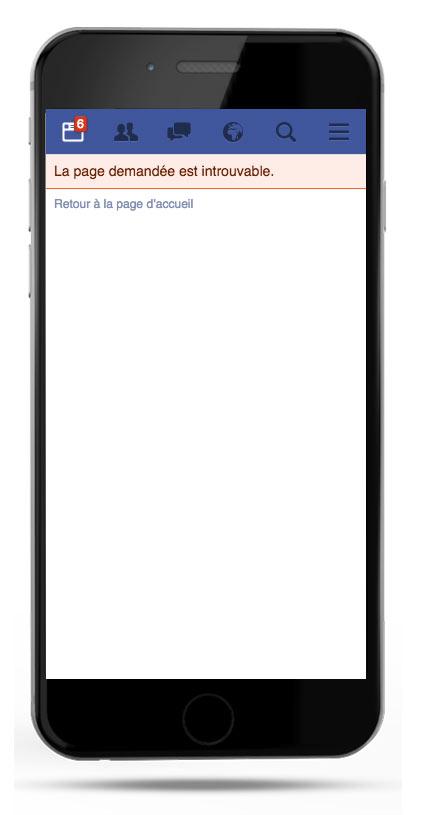 Bug Facebook d'affichage sur mobile