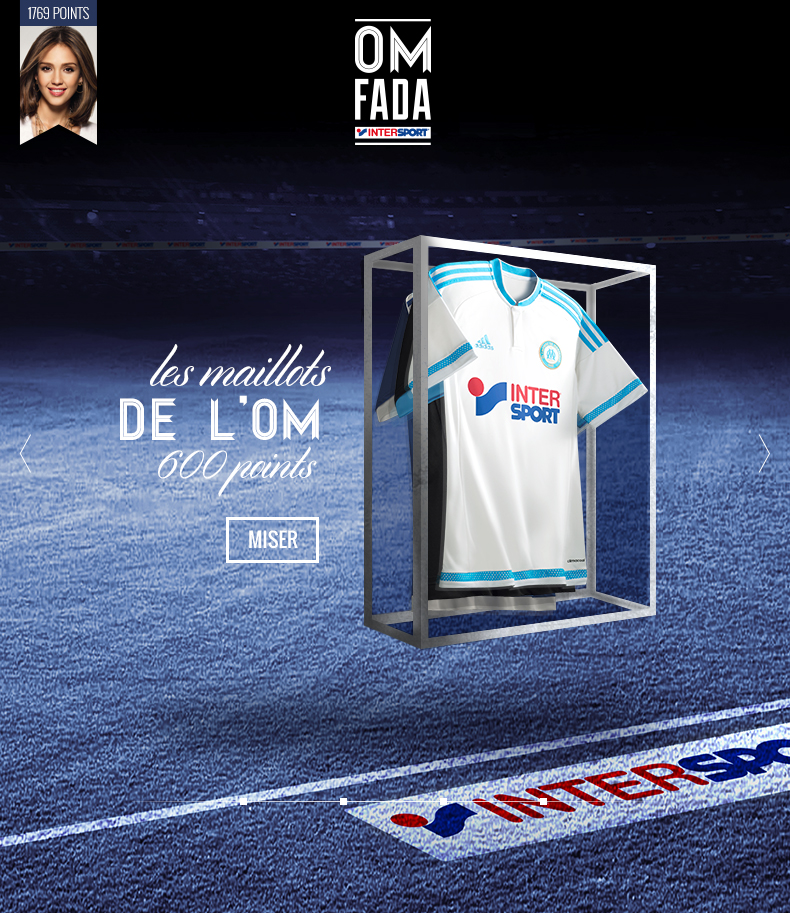 Application Facebook pour intersport et OM fada