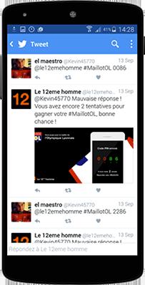 Application Twitter pour Orange