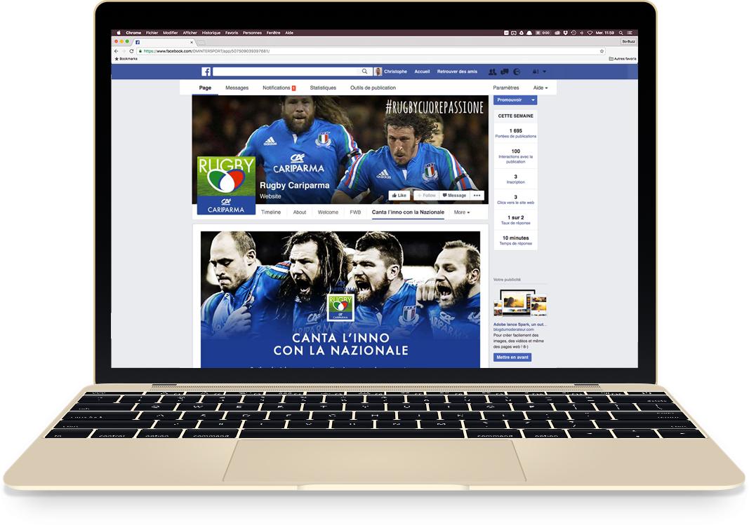 Application Facebook pour Cariparma