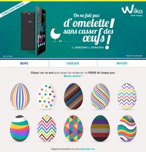 Concours Facebook de Pâques Wiko