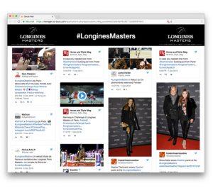 Social Wall Longines Masters