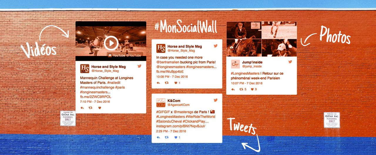 Social Wall Twitter et Instagram