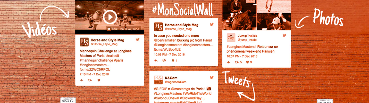 Social Wall pour agréger Tweets, posts facebook et photos Instagram