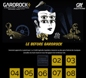 Calendrier de l'Avent Facebook Garorock
