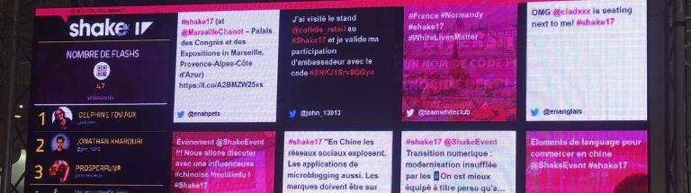 SocialWall du Shake17