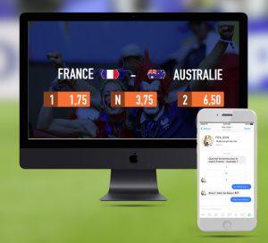 Jeu de pari sportif Facebook pour la coupe du monde de foot 2018 en Russie