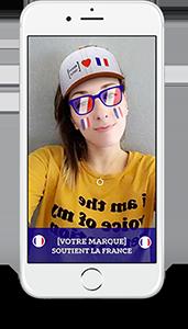 Des filtres et lens Snapchat personnalisés