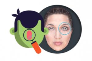 Lens Snapchat déformation visage
