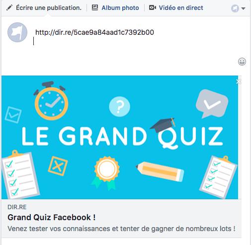 Prévisualisation d'un post Facebook avec la publication optimisée depuis le manager So-Buzz