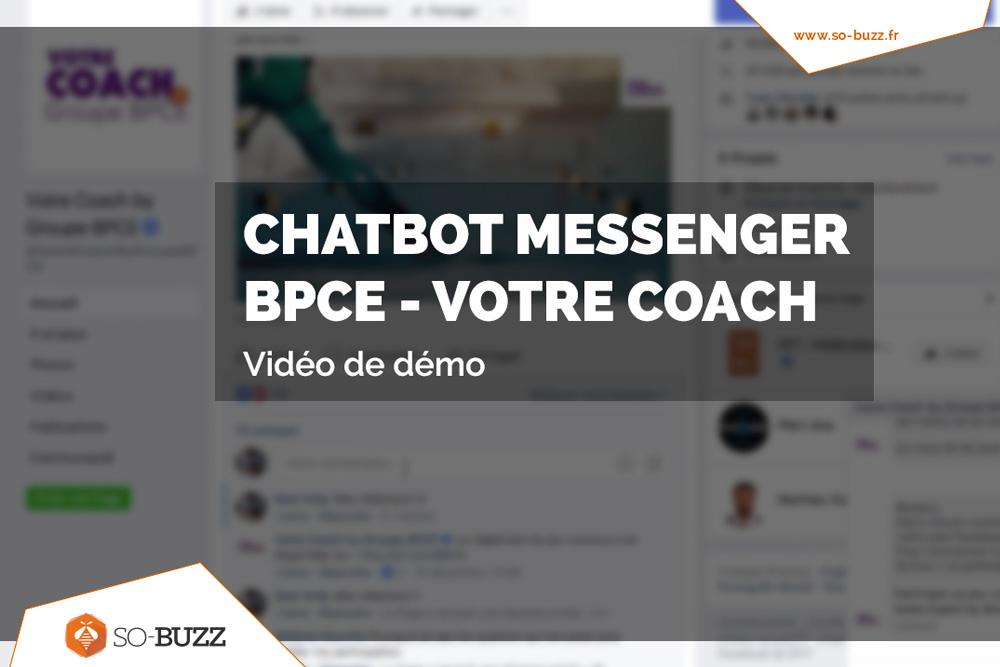 Vidéo de demo du chatbot messnger BPCE