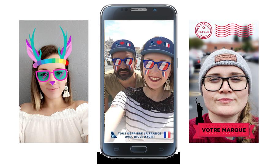 Créer des filtres et des lenses Snapchat pour votre marque