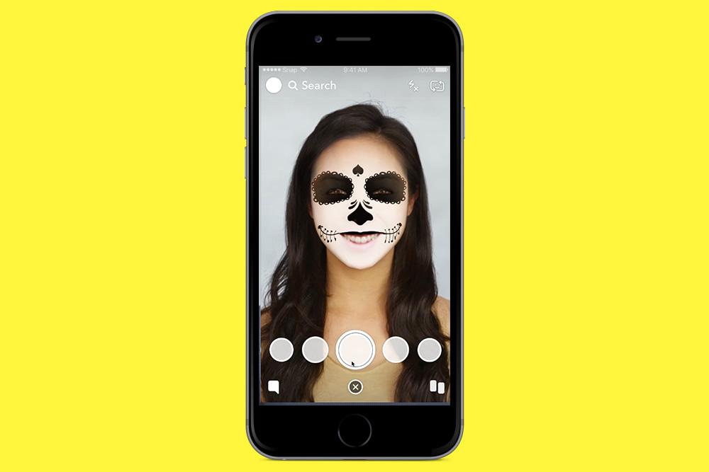Vidéo de demo filtre Snapchat halloween