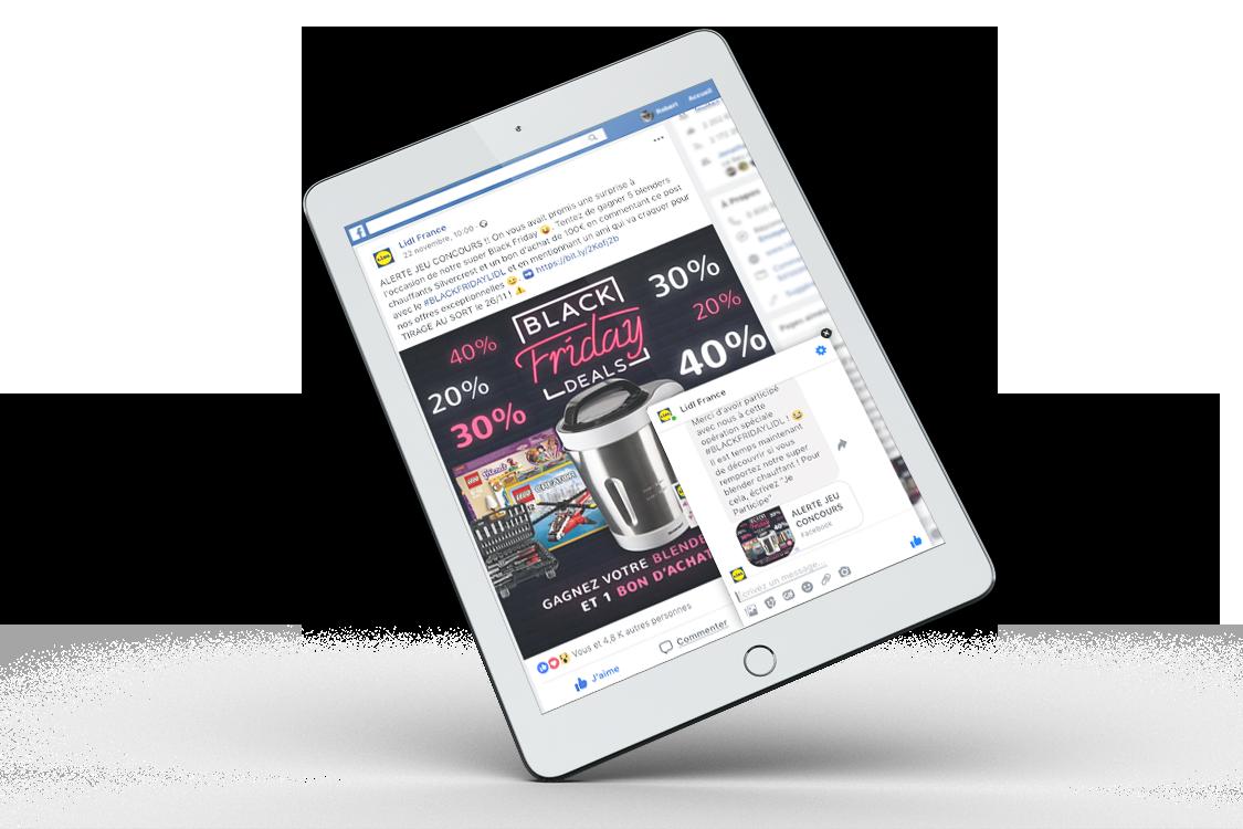 Jeu Social Media Marketing Timeline Facebook pour Lidl